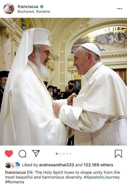 """Mesajul lui Codin Maticiuc, în timpul vizitei Papei Francisc în România. """"De ieri, cel puțin pe mine m-a câștigat de urmăritor"""""""