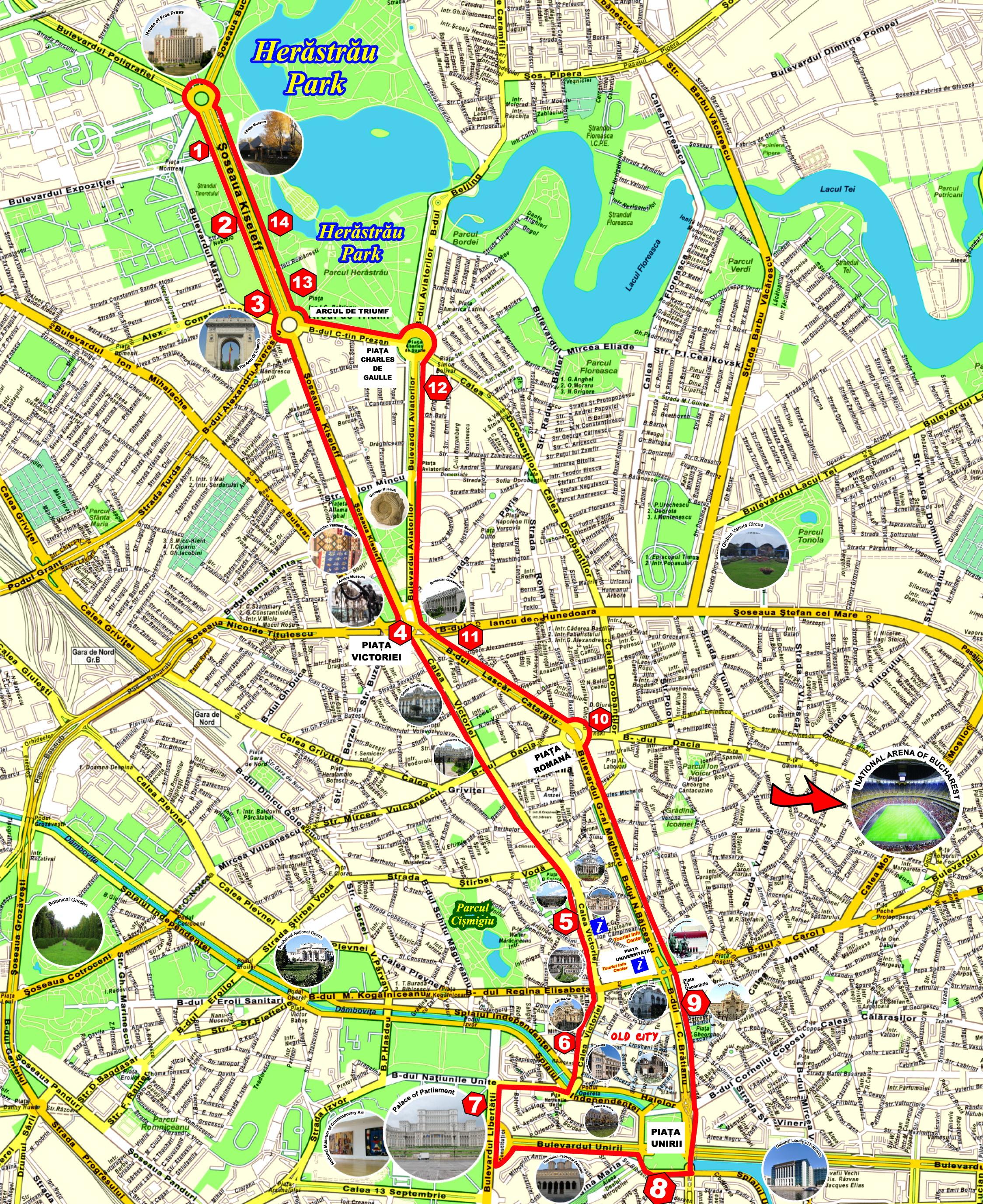 Linia turistică Bucharest City Tour s-a relansat astăzi! Patru autobuze double-decker pentru turul orașului