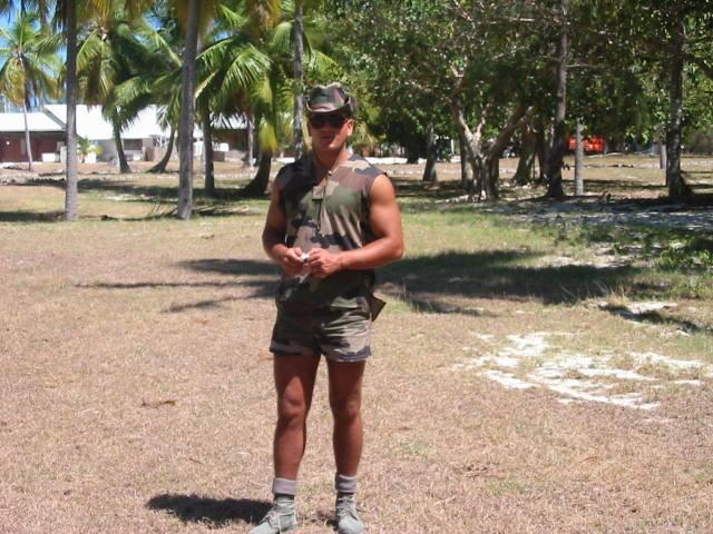Adrian Leordean, într-un moment de relaxare în tabăra Legiunii
