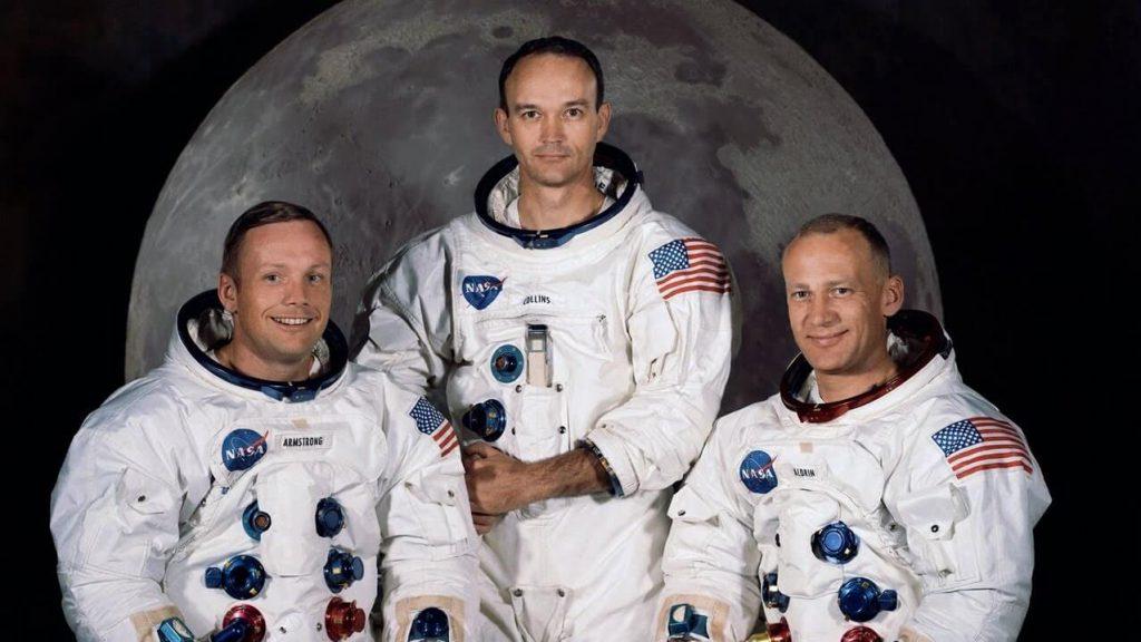Astronautii de pe Apollo 11. Neil Armstrong, Buzz Aldrin and Michael Collins