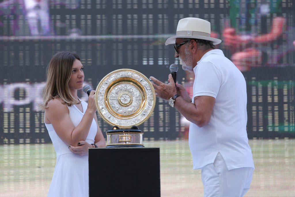 Simona Halep și Ion Țiriac rememorează finala de la Wimbledon (FOTO: Vlad Chirea)