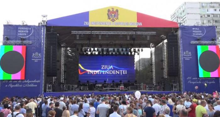 Ziua națională a Republicii Moldova - imagine cu o scena la un concert dedicat zilei independentei Moldovei