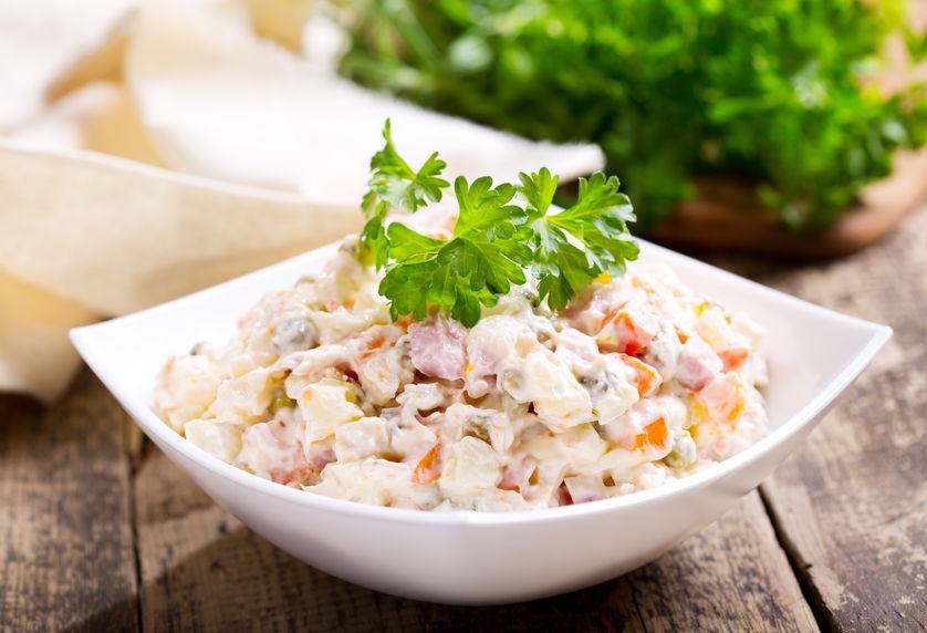 Salată orientală cu murături și maioneză