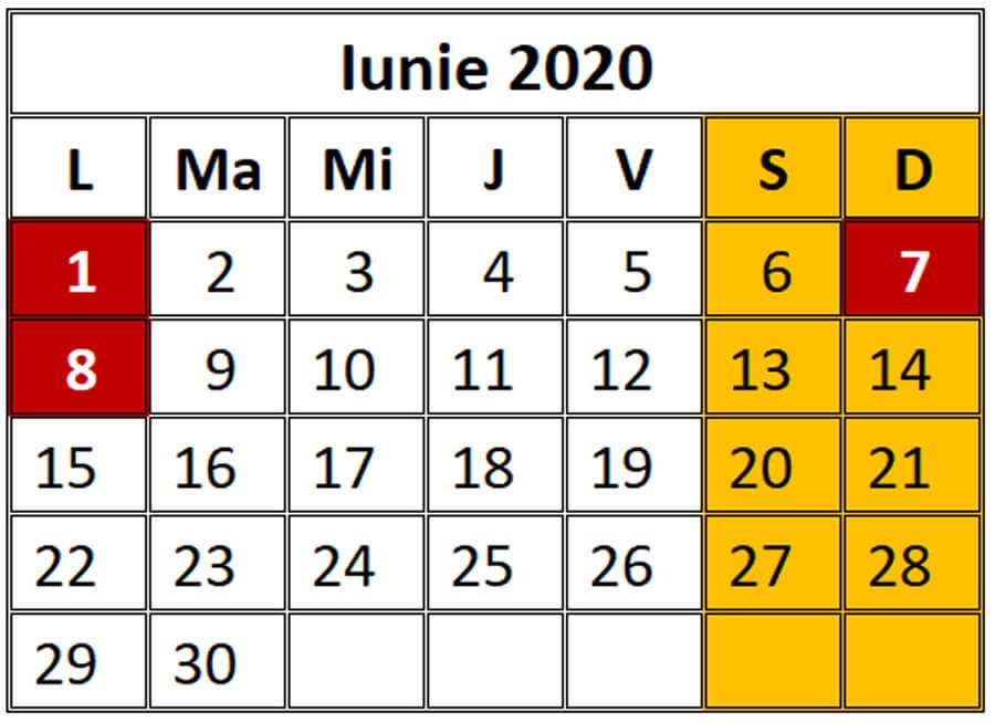 Sarbatori religioase iunie 2020