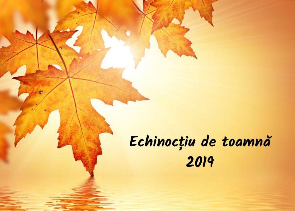 Echinocțiu toamnă 2019