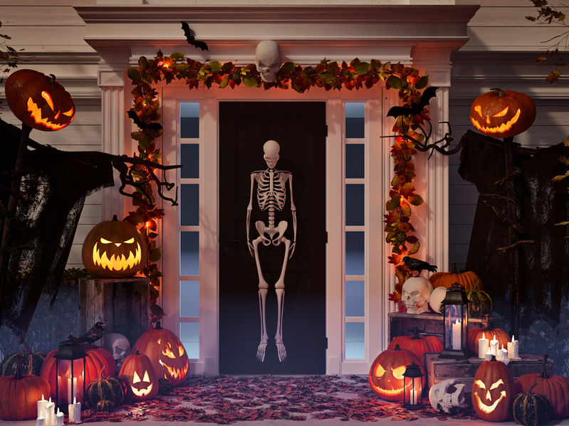 Decorațiuni pentru grădină speciale pentru Halloween