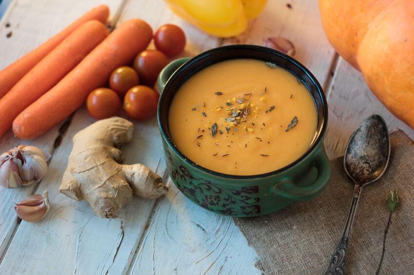 Supă cremă de dovleac cu ghimbir
