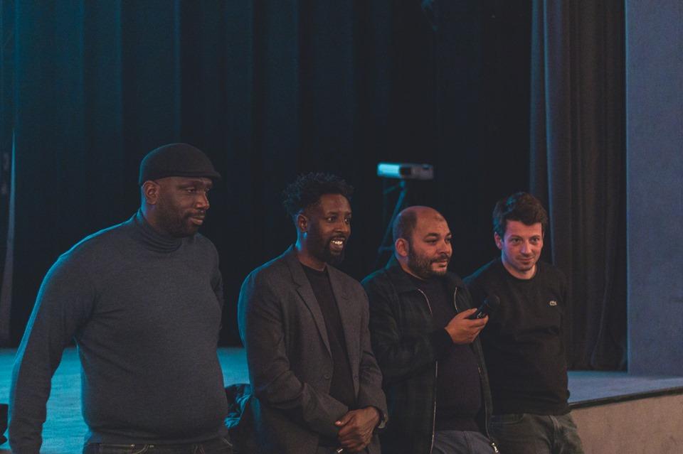 """Ladj Ly, cu o parte din echipa filmului """"Les Miserables"""", la București, la Cinema Elvire Popesco"""