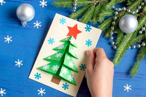 Felicitări din hârtie pentru Crăciun