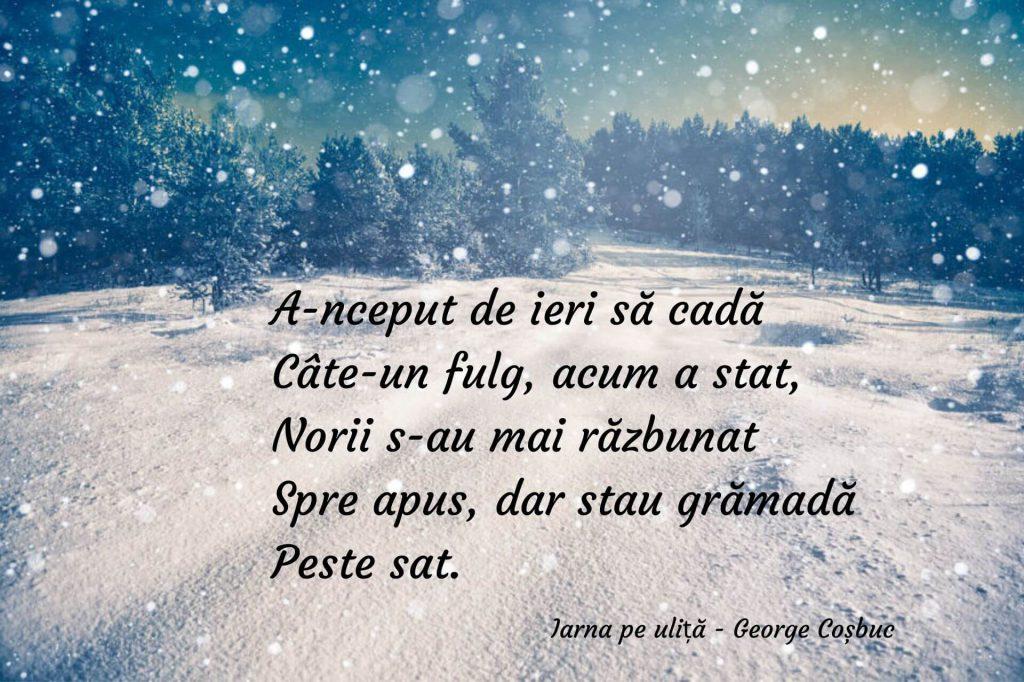 Iarna pe uliță - George Coșbuc