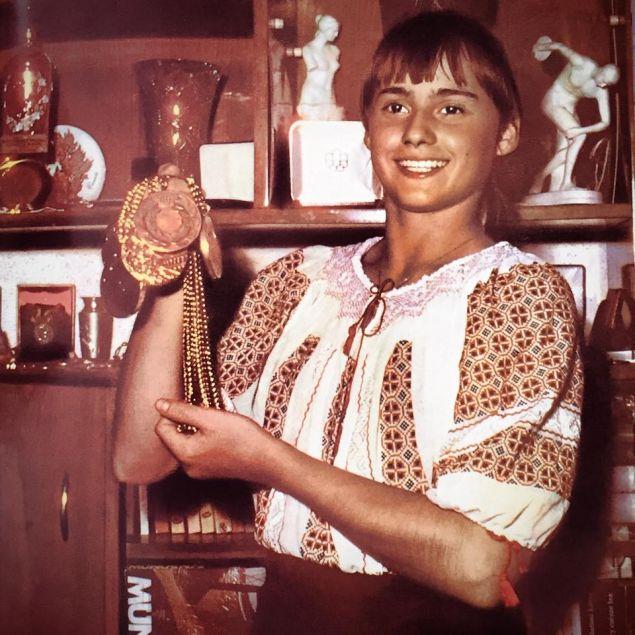 Nadia, în ie după Olimpiada de la Montreal