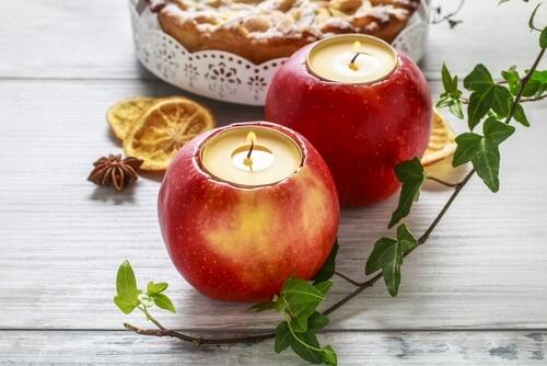 Lumânare în coajă de măr - cum să faci decorațiuni de Crăciun