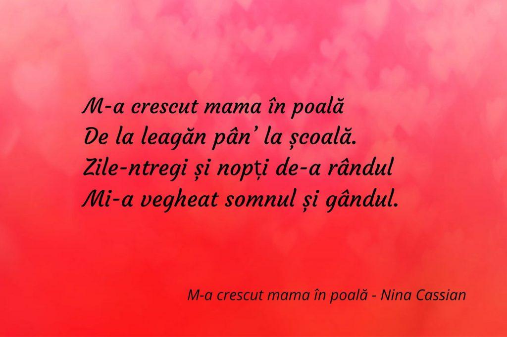 M-a crescut mama în poală - Nina Cassian