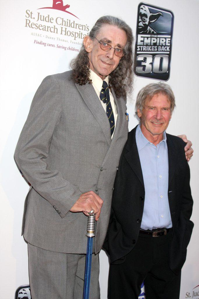 Peter Mayhew, alături de Harrison Ford