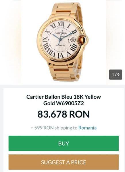 Ceasul Cartier pe care îl poarta Viorica Dăncilă