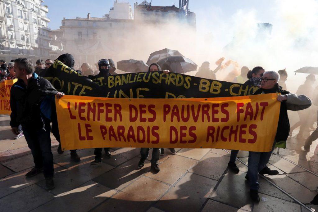 Vestele galbene, protest la Montpellier