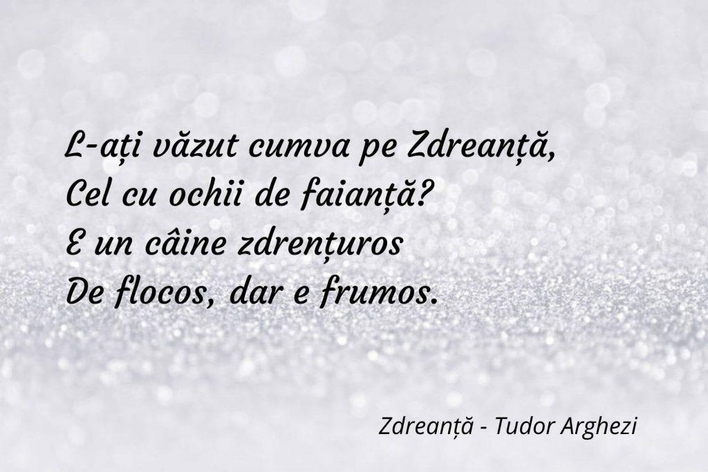 Zdreanță - Tudor Arghezi