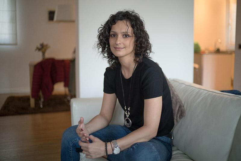 Oana în apartamentul său din Castellón de la Plana, aprilie, 2019