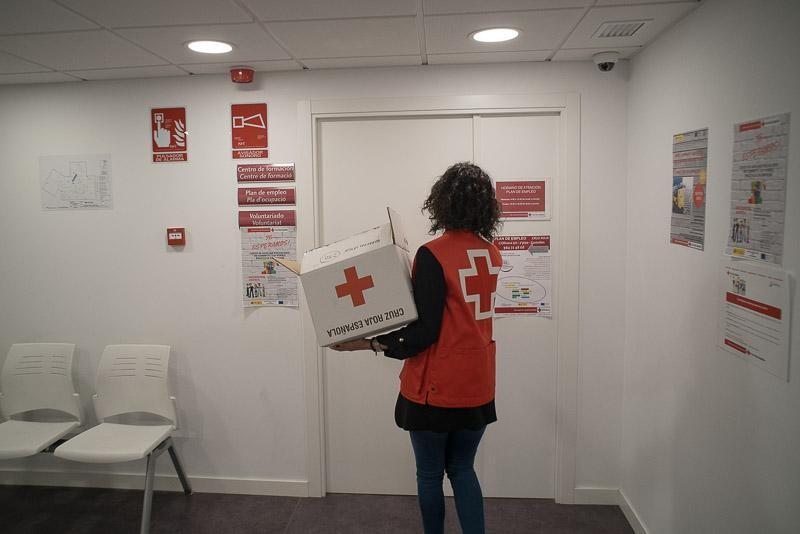 Oana la biroul său de la Crucea Roșie din Castellón de la Plana, aprilie, 2019
