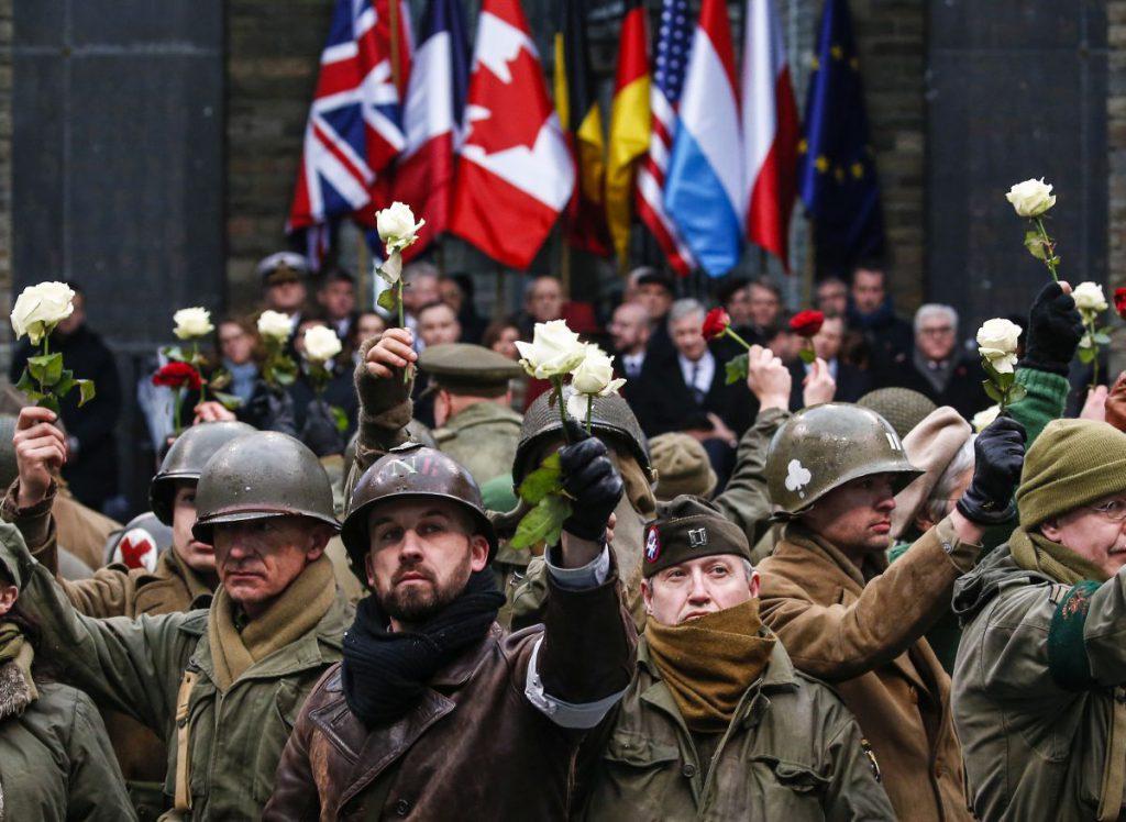 În urmă cu câteva zile, în Belgia s-au comemorat 75 de ani de la bătălia din Bulge, care a avut loc în Al Doilea Război Mondial. FOTO: EPA