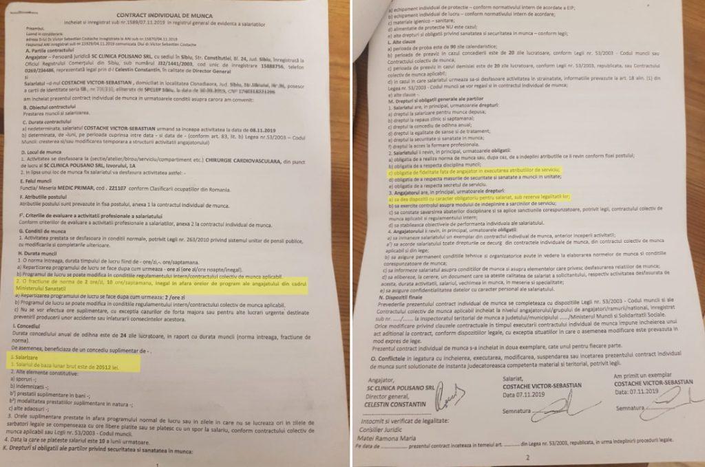 Contractul dintre ministrul Victor Costache și Clinica Polisano
