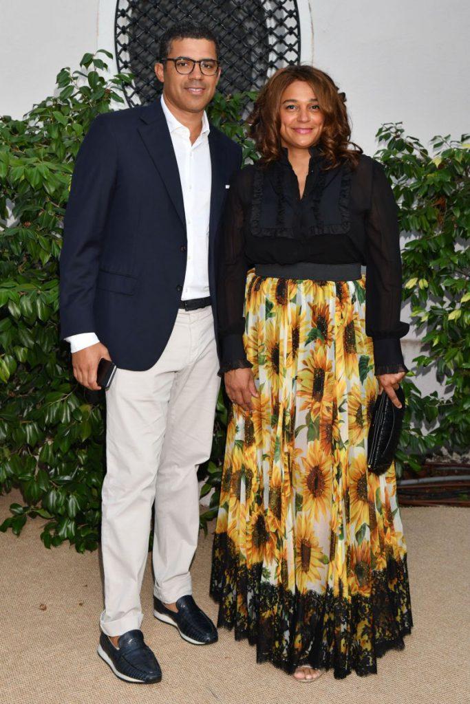 Sindika Dokolo și soția sa, Isabel dos Santos foto: Bruno Bebert / Bestimage / Profimedia