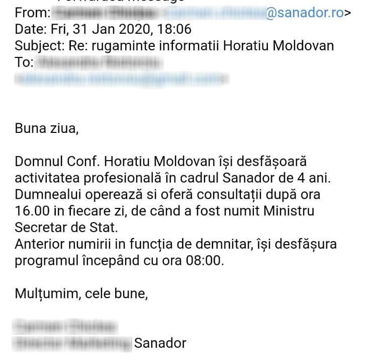 răspuns Sanador
