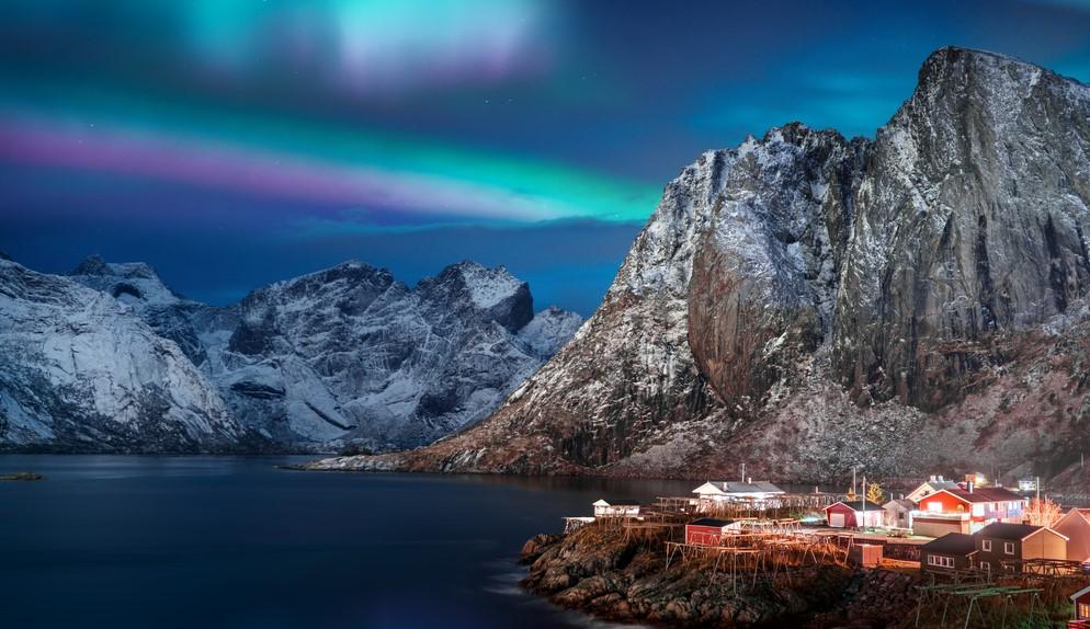 Aurora boreala in nordul Europei