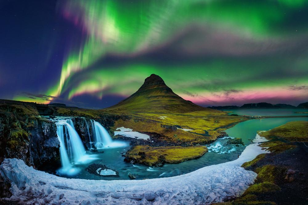 Aurora boreală în Islanda