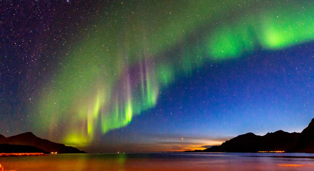 Aurora boreală în Norvegia