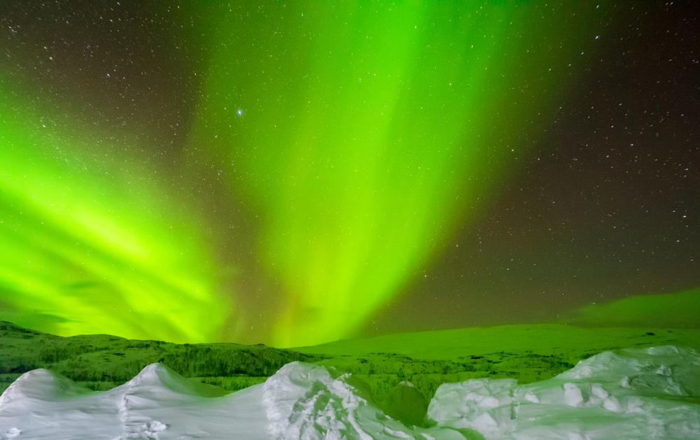 Aurora polară în Suedia