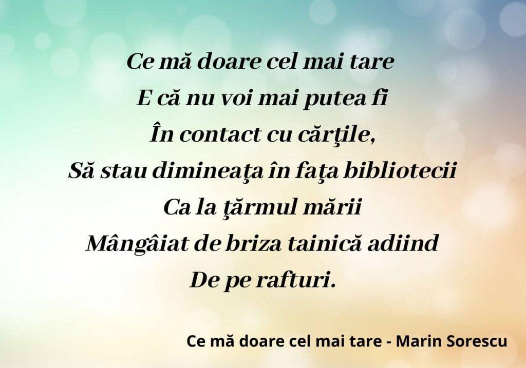 Ce mă doare cel mai tare - Marin Sorescu