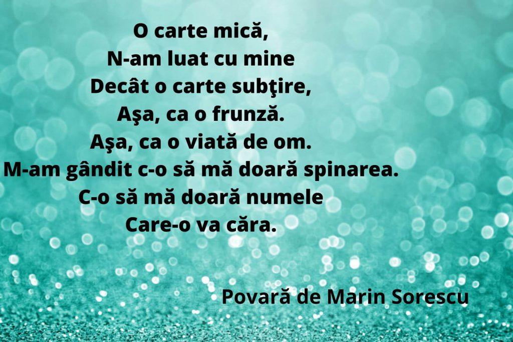 Povară de Marin Sorescu