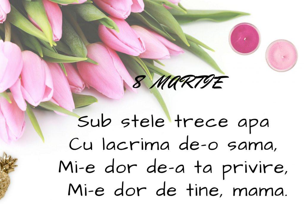 Poezii de 8 martie pentru mama- versuri alaturi de un buchet de lalele