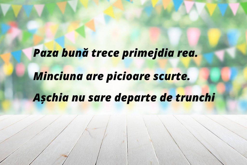 Proverbe romanesti despre viata
