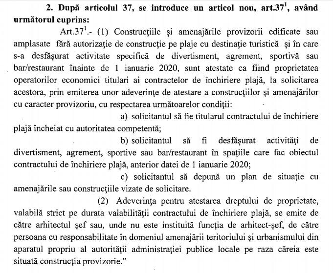 Eugen Teodorovici modifică legea ca să salveze de la demolare terasele construite ilegal pe malul mării. De ce a recurs la asta