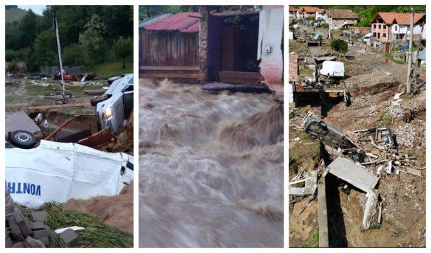 VIDEO| Județul Alba, sub ape. Sute de oameni au rămas fără energie electrică, localități blocate din cauza aluviunilor. Bilanțul autorităților după potop