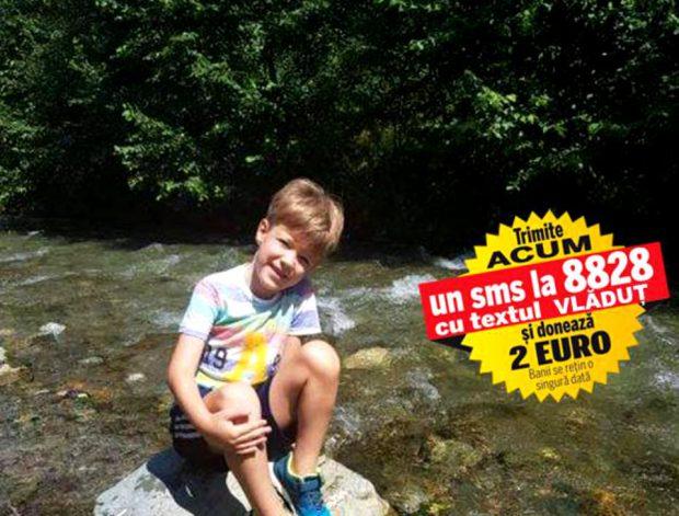 Pentru a continua tratamentul salvator, Vlăduț are nevoie de 100.000 de euro. Băiețelul bolnav de cancer este internat în Turcia, unde a fost operat și supus unui transplant cu celule stem