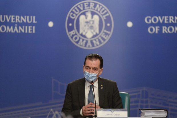 """Ludovic Orban confirmă intrarea Bucureștiului în scenariul roșu și anunță """"cele mai severe măsuri"""" pentru 14 zile"""