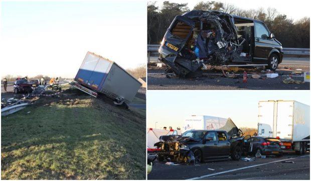 Șoferul român de TIR care a ațipit și a intrat cu 89 km/h în mai multe mașini, în Olanda, condamnat. Un om a murit