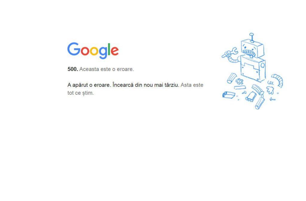 Google a căzut în România și mai multe țări. Gmail, Docs, Meet, Drive și Youtube, indisponibile din cauza unor probleme tehnice
