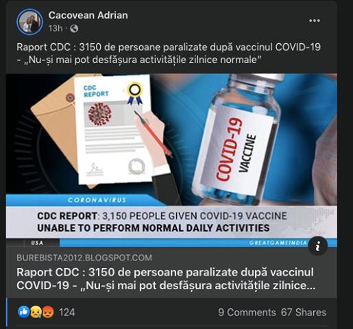 Doctori reclamați la Colegiul Medicilor pentru răspândirea de informații false referitoare la vaccinul anti-COVID