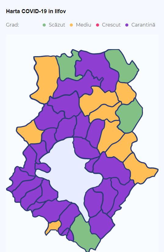 Carantina a fost prelungită pentru mai multe localități din Ilfov