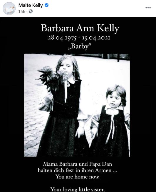 A murit Barby Kelly, componentă a trupei Kelly Family.  Fosta vedetă pop s-a stins în somn