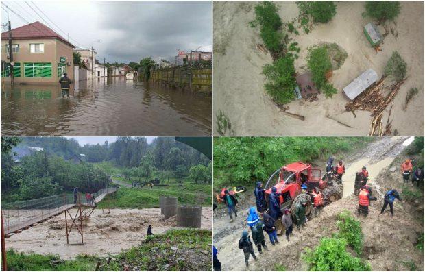 Bilanțul inundațiilor: două decese, o persoană dispărută, 77 de localități afectate. Cea mai gravă situație e la Biliești, în Vrancea