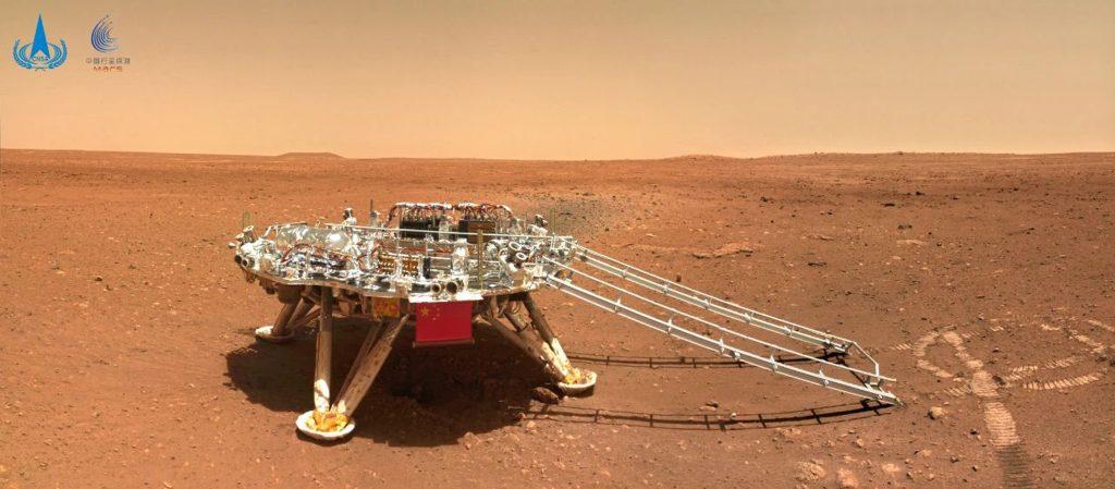 China a dezvăluit noi imagini de pe Marte, transmise de roverul său Zhurong