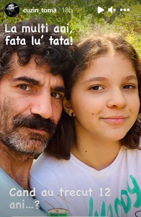 """Cum arată fiica lui Toma Cuzin, Firicel din """"Las Fierbinți"""". Meda a împlinit 12 ani. """"La mulți ani, fata lui tata"""""""