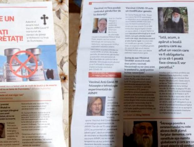 Anchetă în Alba, după ce o broșură cu știri antivaccin a fost distribuită în mai multe sate